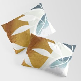 Abstract in blue green tones Pillow Sham