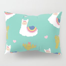 Llama Love Cactus Pillow Sham