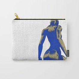 Golden Seated Goddess blue cut version Carry-All Pouch