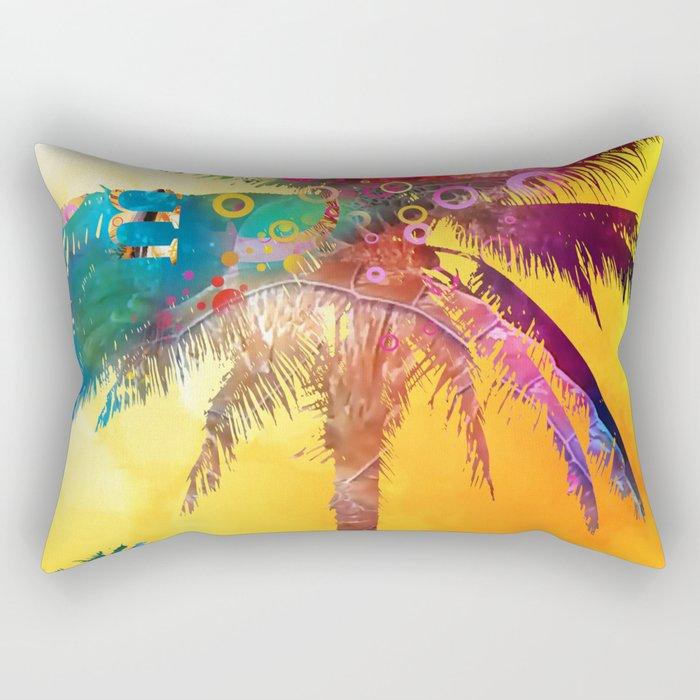 Palm in the Sun Rectangular Pillow
