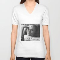 china V-neck T-shirts featuring China by MADforADS