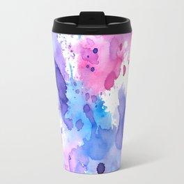 Color splash, pink, blue and purple palette Travel Mug