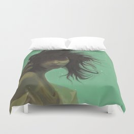 mint girl Duvet Cover