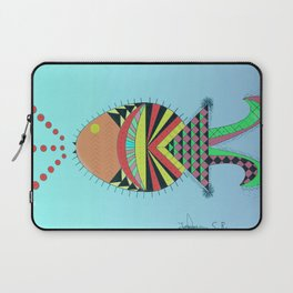 the tamborin fish or puffer fish Laptop Sleeve