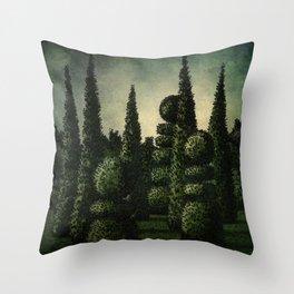 Secret Moonrise Garden Throw Pillow