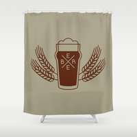 beer Shower Curtains featuring Beer. by Sparganum