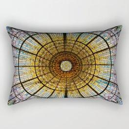 Barcelona glass window stained glass Rectangular Pillow