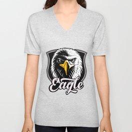 Eagle Powerful Face look Unisex V-Neck