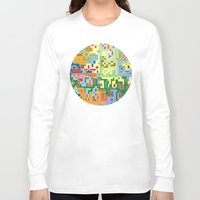 world maps Long Sleeve T-shirts featuring Maps by Tony Vazquez