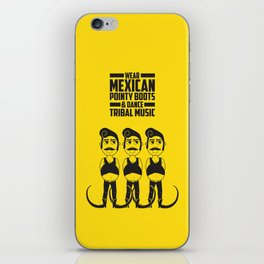 Hector loves tribal music.  iPhone Skin