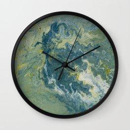 lost at sea | fluid acrylics Wall Clock