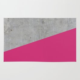 Concrete and pink yarrow color Rug