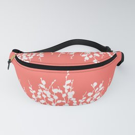 Pussywillow Silhouettes — Living Coral Fanny Pack
