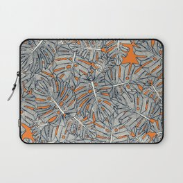 monstera leaves orange Laptop Sleeve