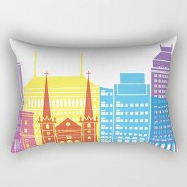 Fresno skyline pop Rectangular Pillow