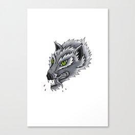 Trad Wolf Canvas Print