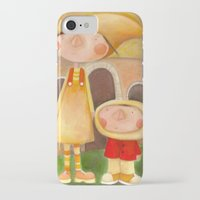 mom iPhone & iPod Cases featuring Mom by Gabriela Granados
