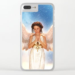 An angel in heaven,3d illustration Clear iPhone Case
