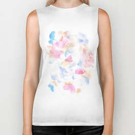 170322 Soft Pastel Watercolour 14 |Modern Watercolor Art | Abstract Watercolors Biker Tank