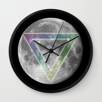 lunar Wall Clocks featuring Lunar Eclipse by Karolis Butenas