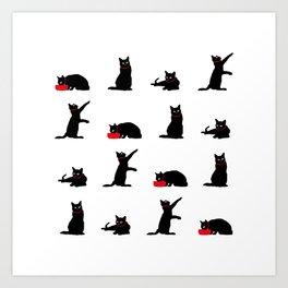Cats-Large-Black&White Art Print