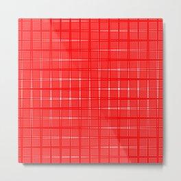 Aurora Red Pattern 1 Fall Winter 2016 Pantone Color Metal Print