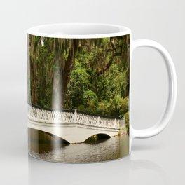 Beautiful White Magnolia Plantation Bridge Coffee Mug