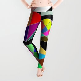 Secret of Colorful Geometric Shapes Leggings