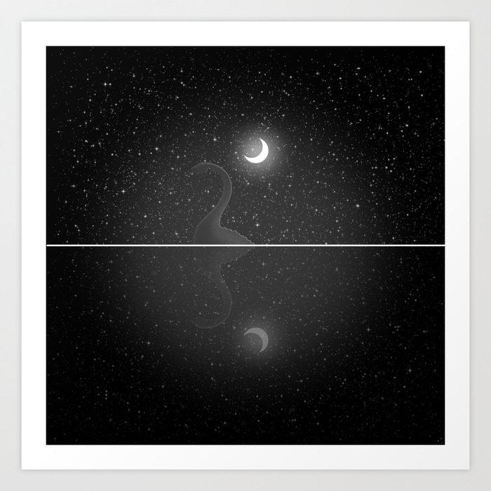 Nessie Starry Night - Loch Ness Monster Kunstdrucke