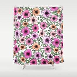 Poppy Pattern Shower Curtain