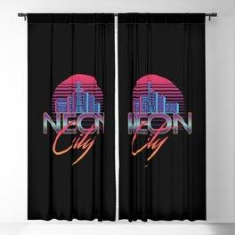 Neon City Retro Wave - 80's Aesthetics Blackout Curtain