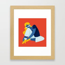 Chill Gal Framed Art Print