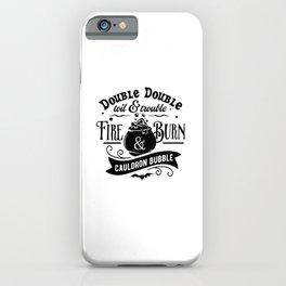 Cute Literature Teacher Halloween Shakespeare Macbeth Witch Gifts iPhone Case