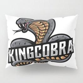 Mascot King Cobra Esport Logo Pillow Sham