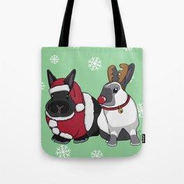 Christmas Elly and Bobby Tote Bag