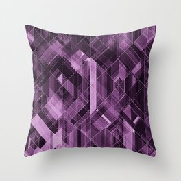 Abstract violet pattern Throw Pillow