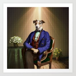 Doctor Declan Dogue in his Parlor Art Print