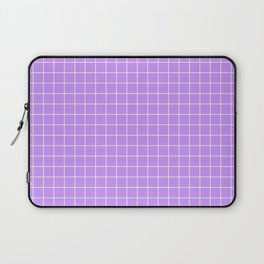 Lilac with White Grid Laptop Sleeve
