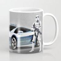lamborghini Mugs featuring Lamborghini Troopers by Vin Zzep