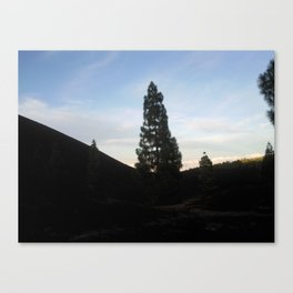 late at arena negra tenerife Canvas Print