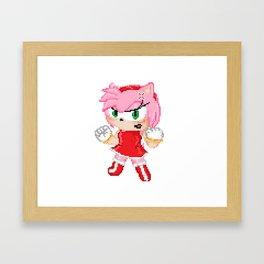 Furious Amy (Pixel art) Framed Art Print