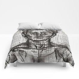 Wanderlust - Charcoal on Newspaper Figure Drawing Comforters
