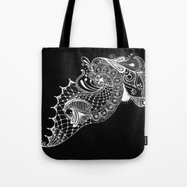 Black Tie Peacock Tote Bag