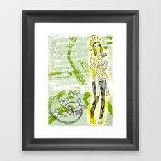 Unhappy Girl Framed Art Print