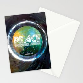Peace Through Music Stationery Cards