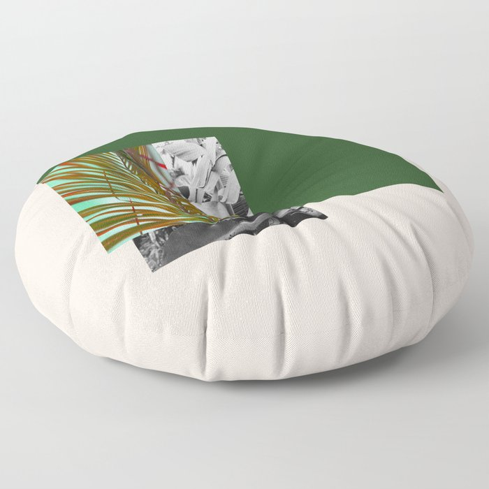 Gray and Green Floor Pillow