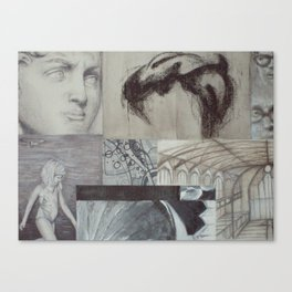 David in Grey Canvas Print