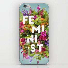 Floral Feminism iPhone Skin