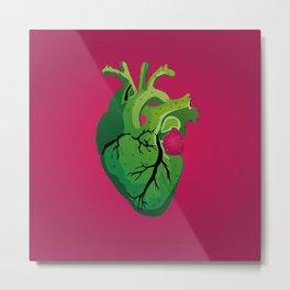 Corazón de Nopal | Cactus Heart Metal Print