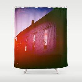 Light Leak Sunset Shower Curtain